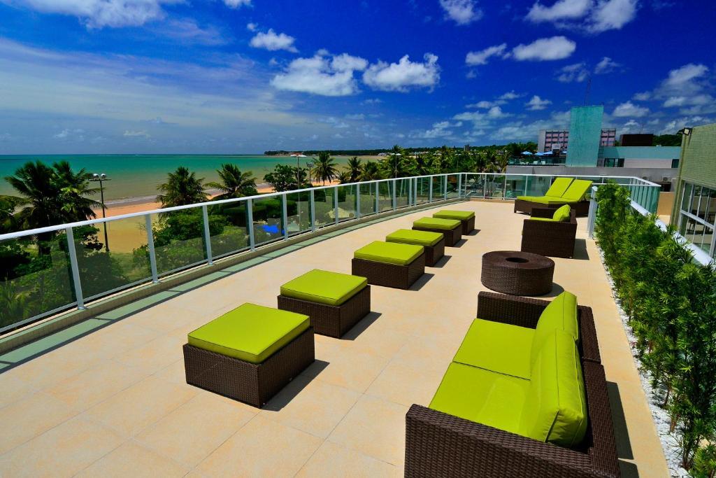 A balcony or terrace at Nord Luxxor Cabo Branco