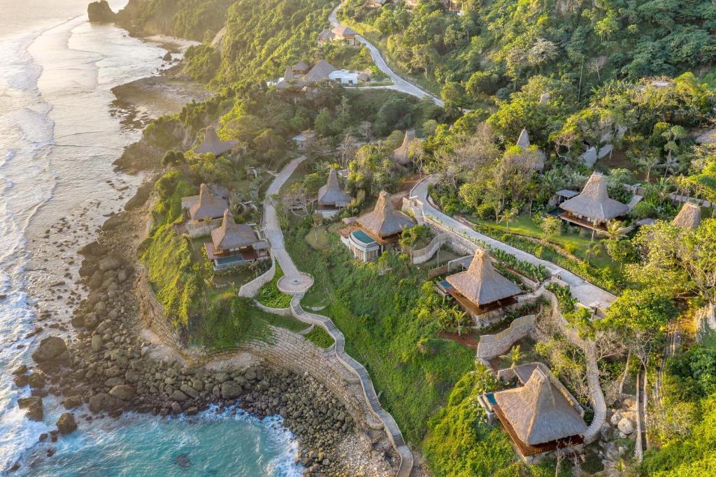 A bird's-eye view of Lelewatu Resort Sumba