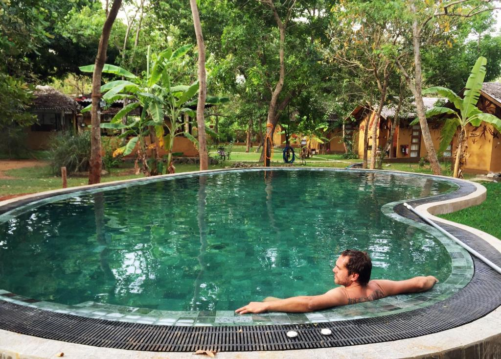 The swimming pool at or close to Sat Nam Village Eco-Hotel