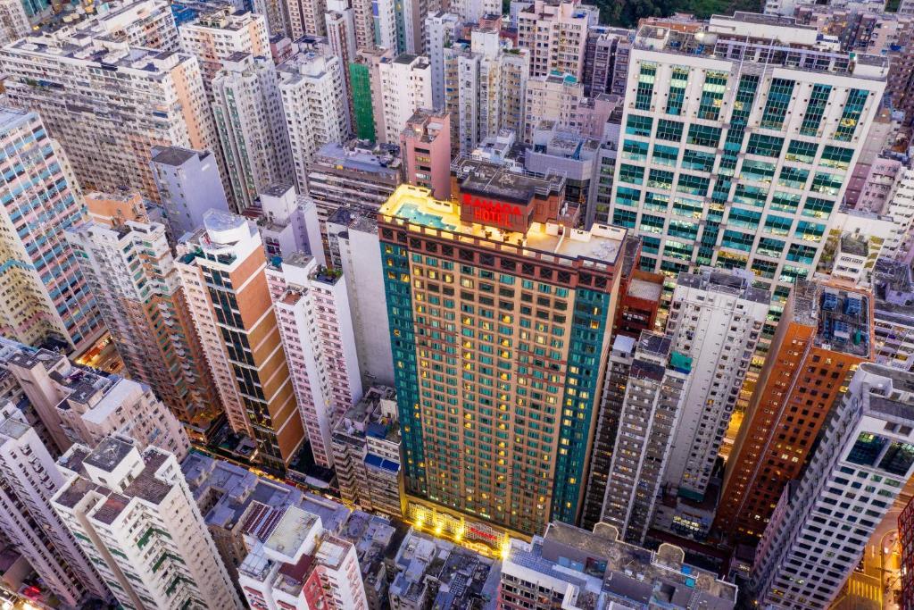 วิว Ramada Hong Kong Grand View (Formerly Grand View Hotel)  จากมุมสูง