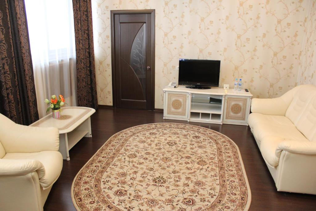 Гостиная зона в Гостиница Воронеж
