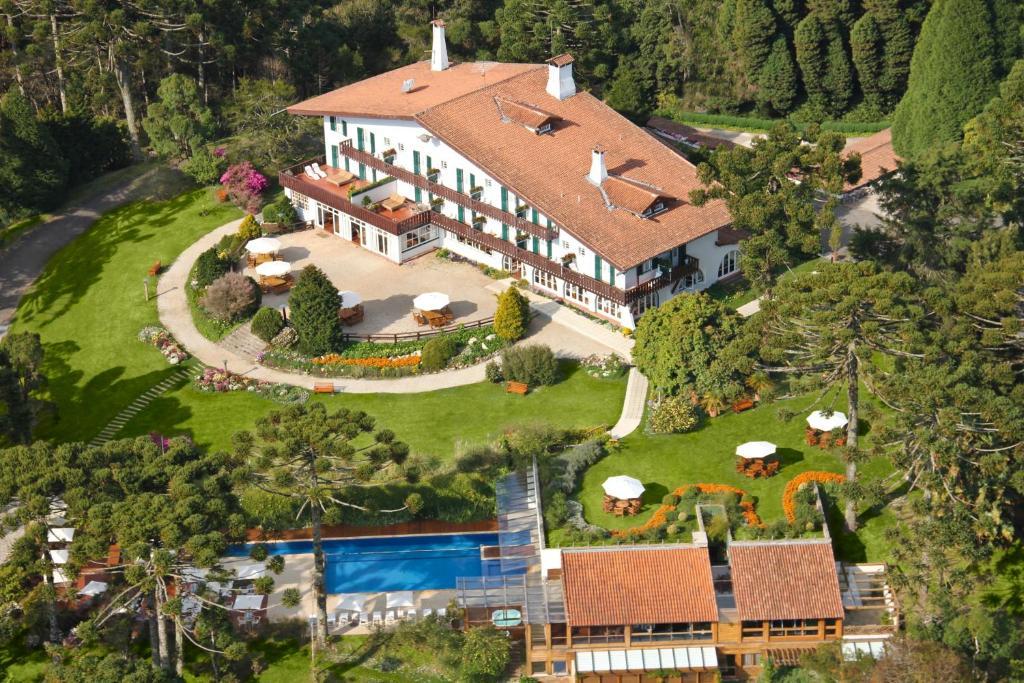A bird's-eye view of Hotel Toriba