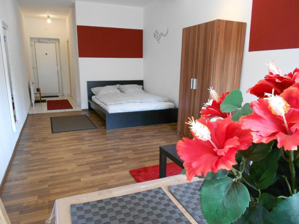 Ein Bett oder Betten in einem Zimmer der Unterkunft Apartment Beethoven