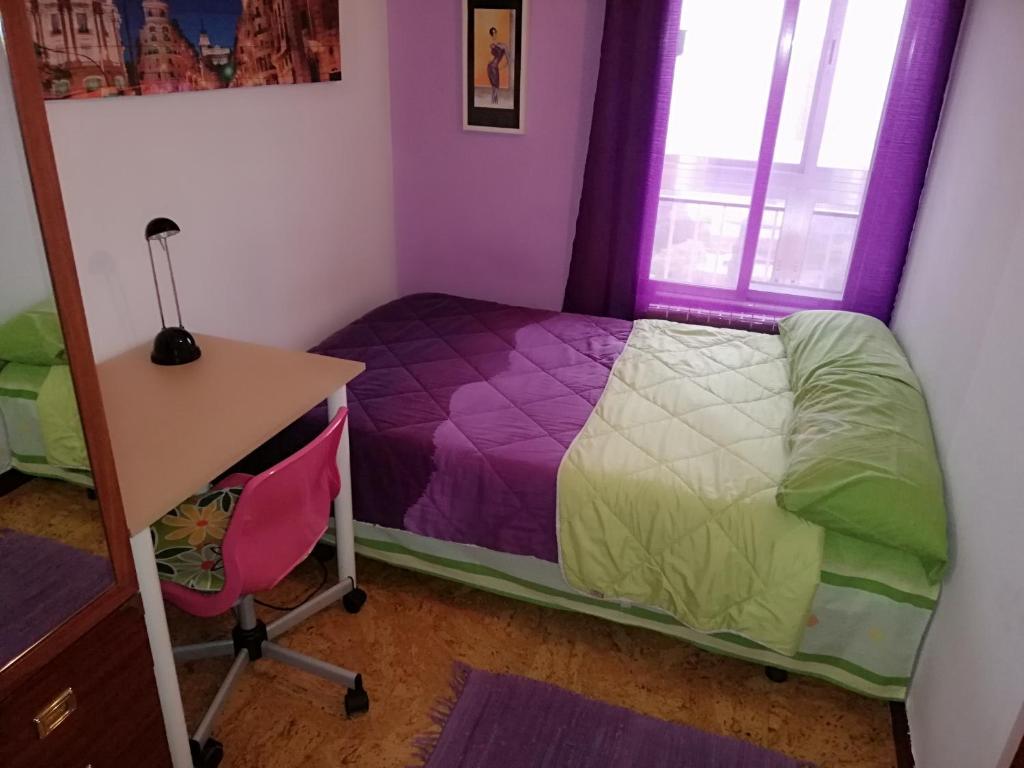 A bed or beds in a room at Habitación en Zona de Lujo metro Buenos Aires - hab3