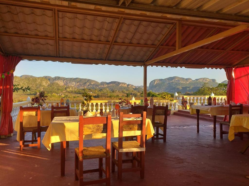 A restaurant or other place to eat at Casa El Porry