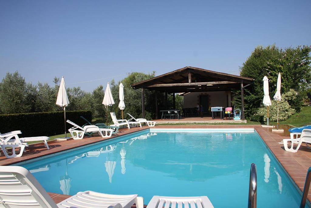 The swimming pool at or near Agriturismo Poggio alle Calle