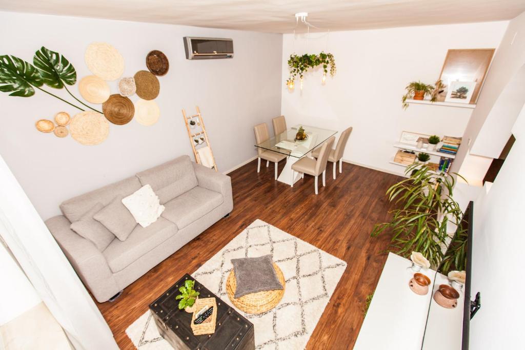 Ein Sitzbereich in der Unterkunft Apartments Musicology