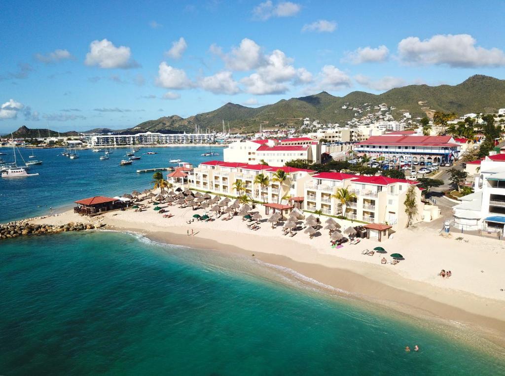 A bird's-eye view of Simpson Bay Beach Resort and Marina