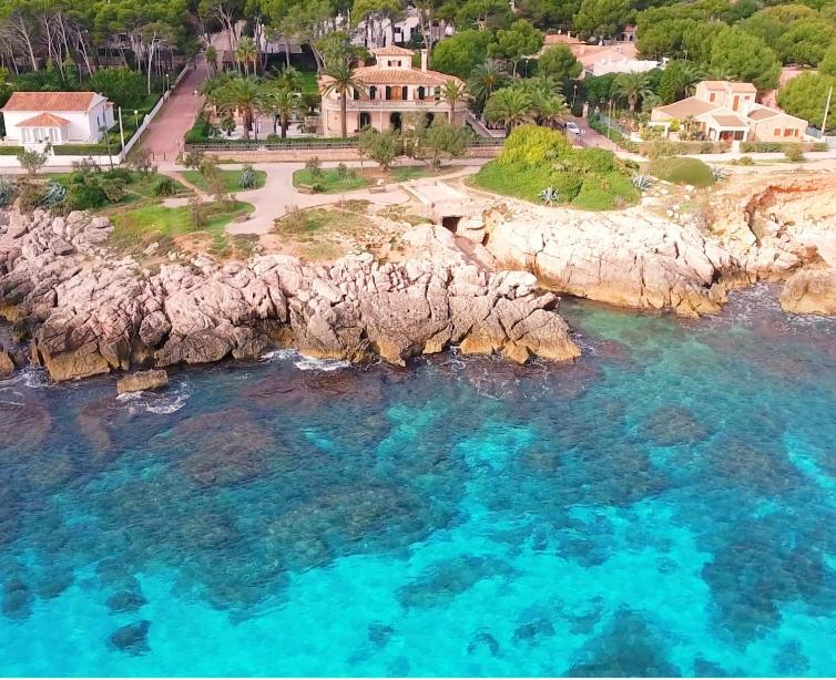 Blick auf Villa Orient aus der Vogelperspektive