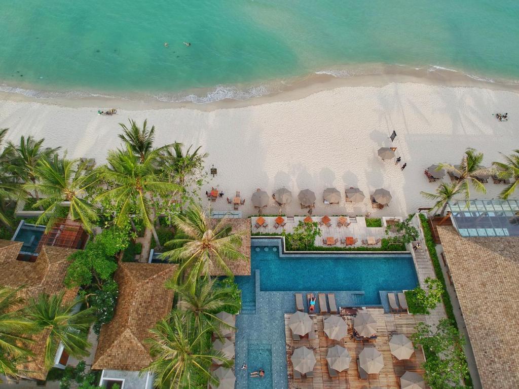 Tầm nhìn từ trên cao của Banana Fan Sea Resort