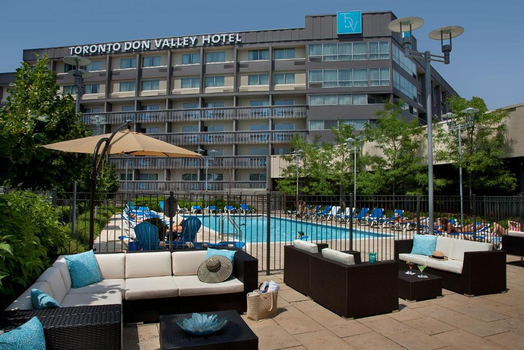 The swimming pool at or near Toronto Don Valley Hotel and Suites