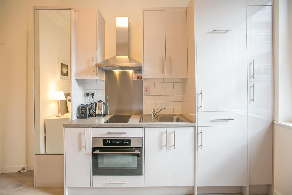 A kitchen or kitchenette at Single modern studio apartment