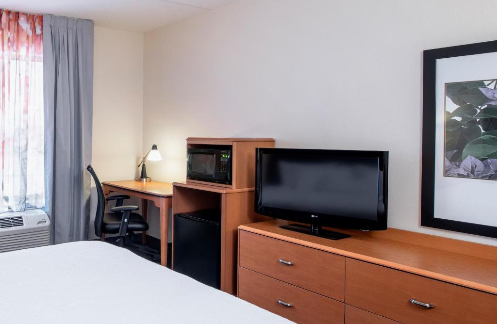 A television and/or entertainment center at Fairfield Inn & Suites by Marriott Winnipeg