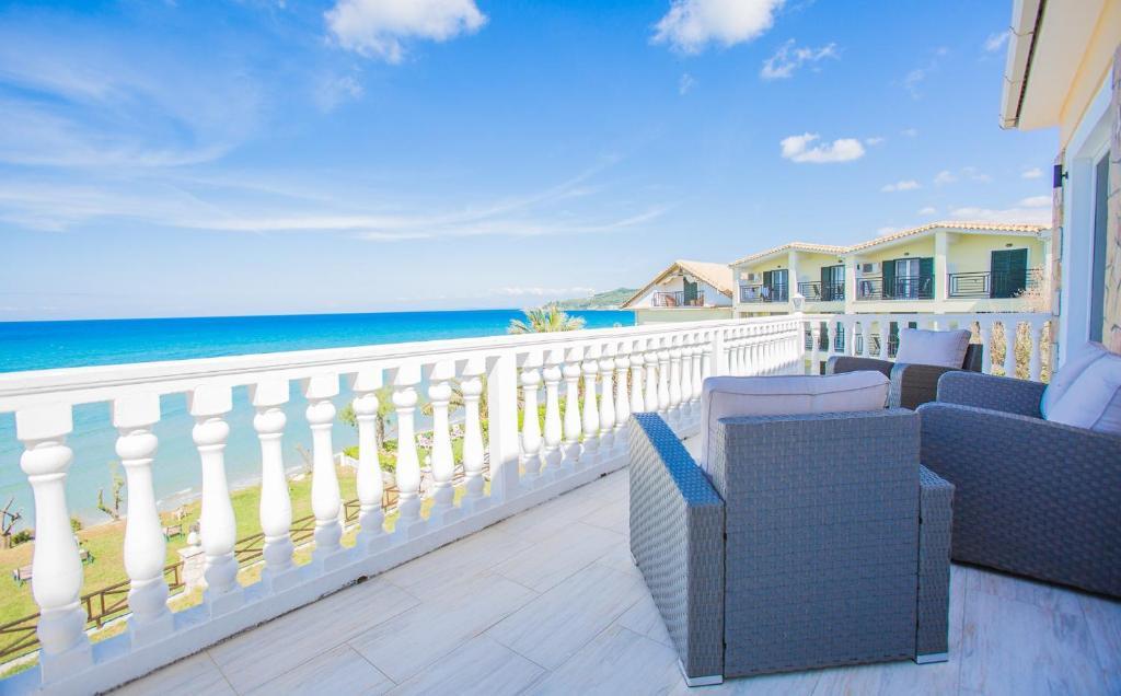 A balcony or terrace at Laura Beach House