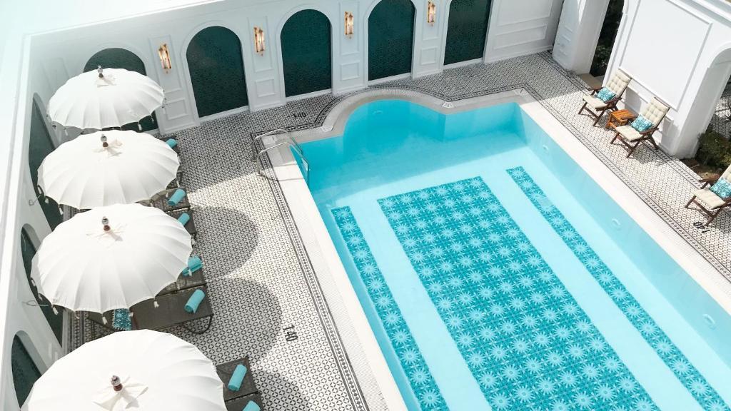 Вид на бассейн в Sura Hagia Sophia Hotel или окрестностях