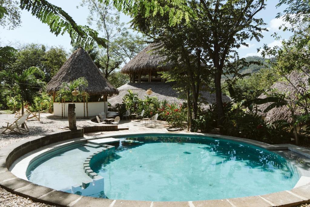 The swimming pool at or close to Dreamsea Surf Resort Nicaragua