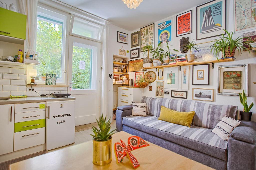 Zona de estar de Tchaikovsky Hostel Split (T-Hostel)