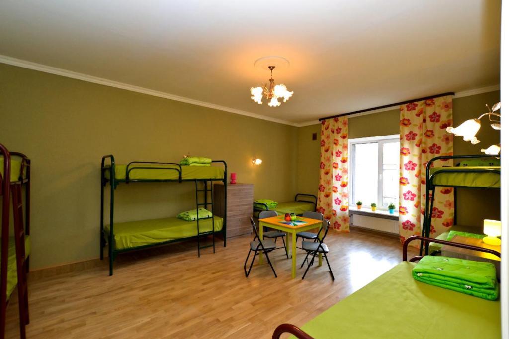 Двухъярусная кровать или двухъярусные кровати в номере Hostel City 812