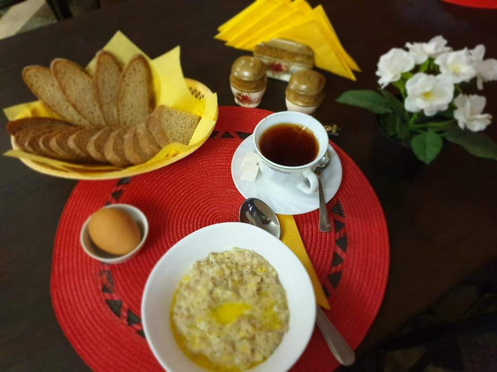 Breakfast options available to guests at Guest House Bashkiriya