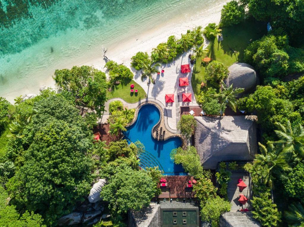 Anantara Maia Seychelles Villas с высоты птичьего полета