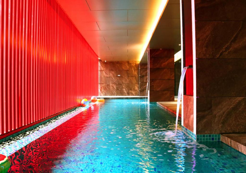 The swimming pool at or near Red Hotel Cubao, Quezon City