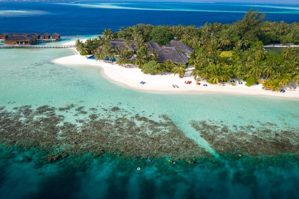 Vilamendhoo Island Resort & Spa с высоты птичьего полета