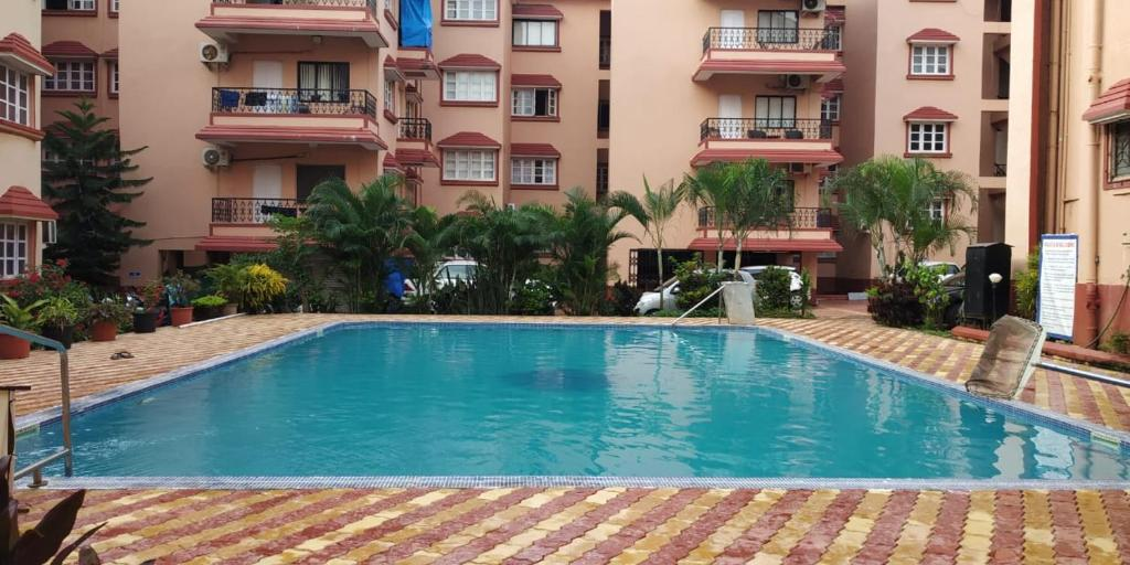 The swimming pool at or near Saldana apartment