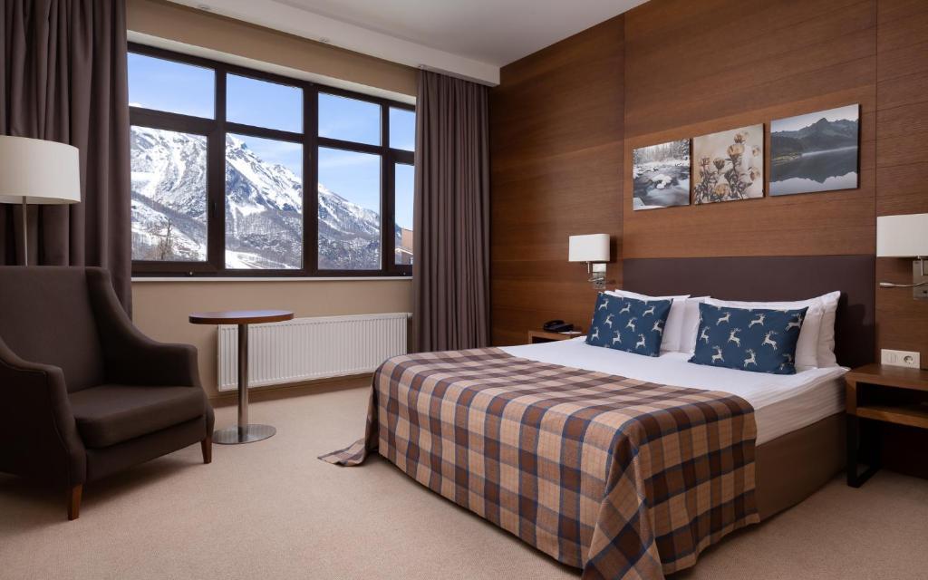 Кровать или кровати в номере Medical Spa Hotel Rosa Springs