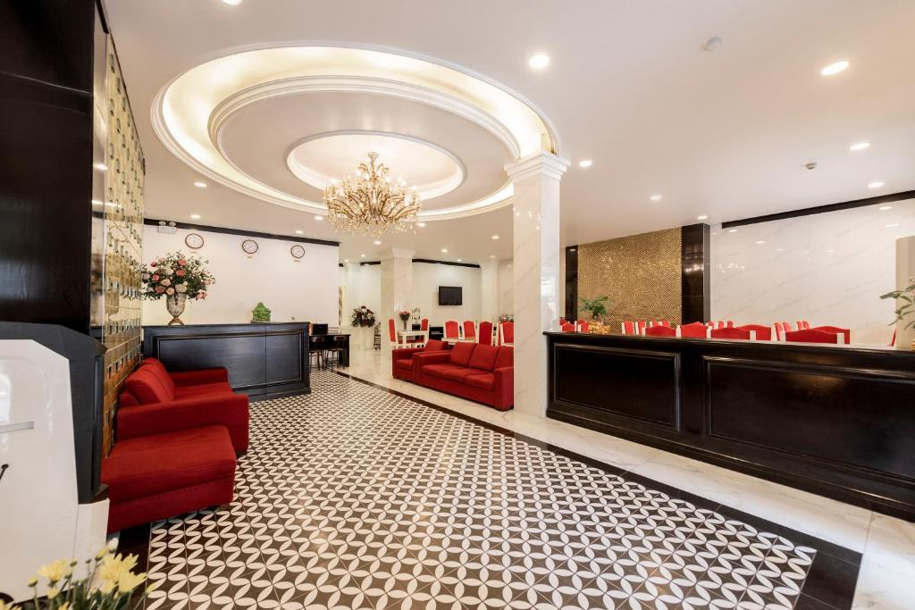 The lobby or reception area at Helios Legend Hotel