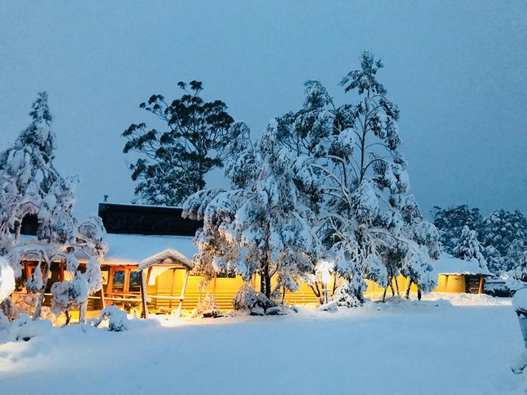 Cradle Mountain Wilderness Village durante o inverno