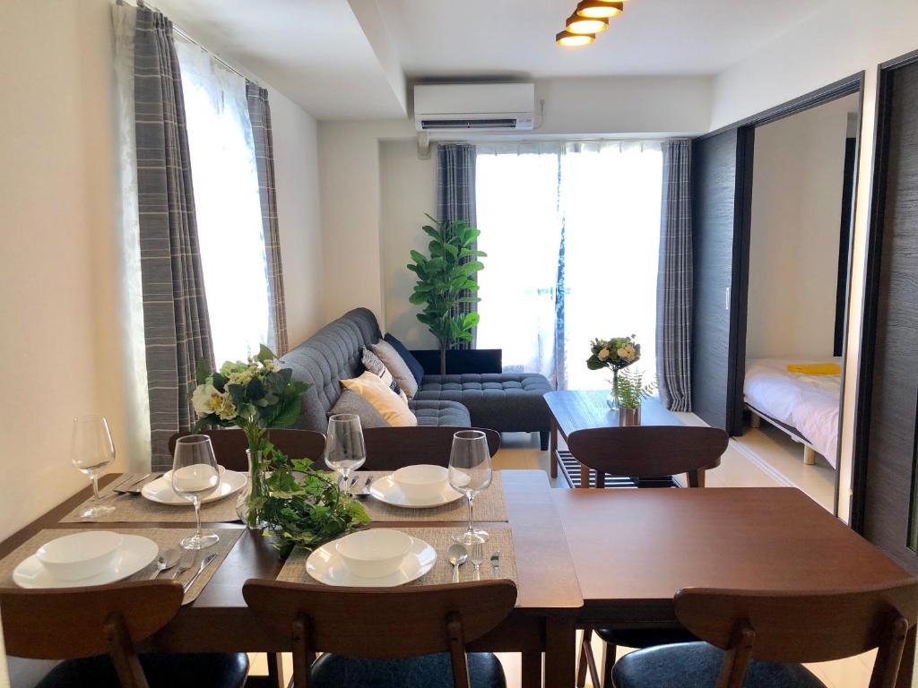 ห้องอาหารหรือที่รับประทานอาหารของ Mr Kintaro Stay Ueno