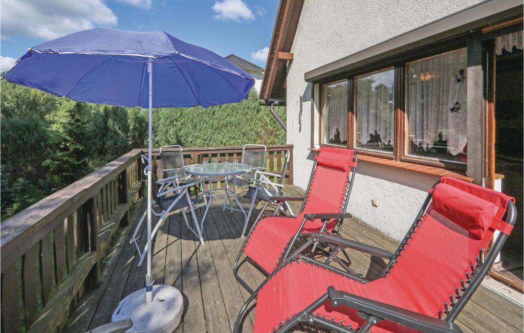 A balcony or terrace at Holiday home Am Hasselberg V