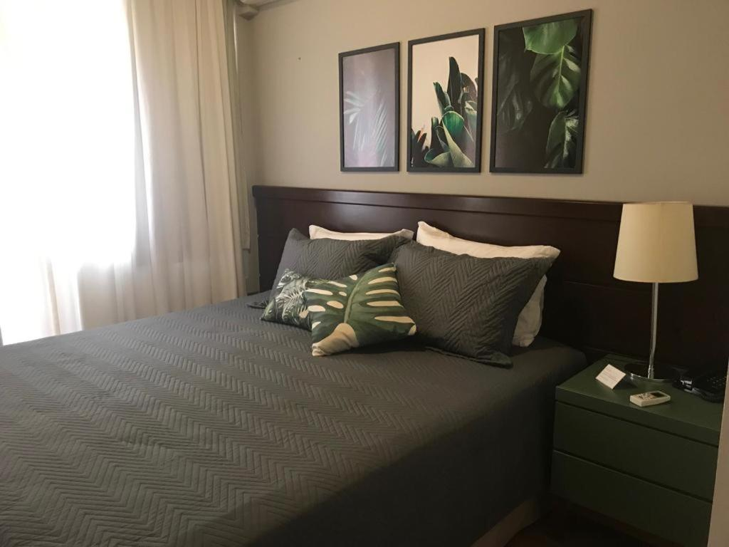 Cama ou camas em um quarto em Itaim Flat 11º Andar - ANDAR EM REFORMA