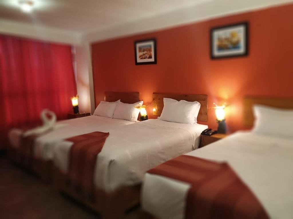Cama o camas de una habitación en Andina Inn Boutique