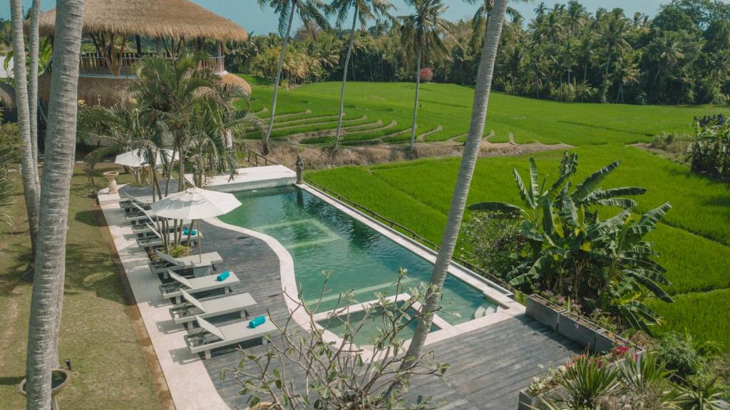 A view of the pool at Coco Verde Bali Resort or nearby