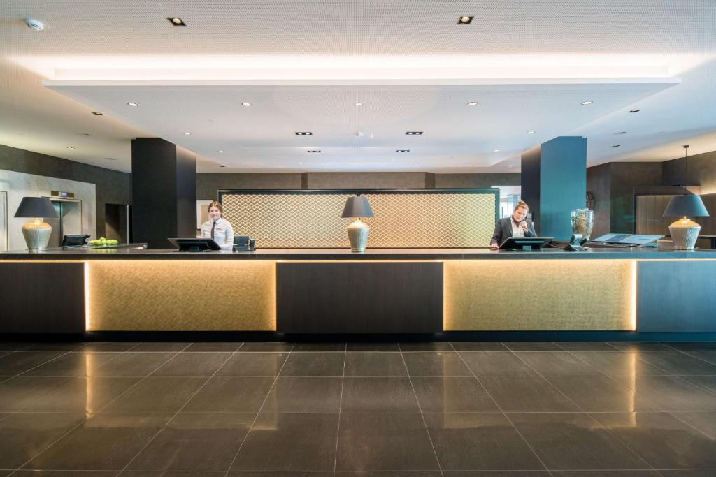 The lobby or reception area at Best Western Plus Central Hotel Leonhard
