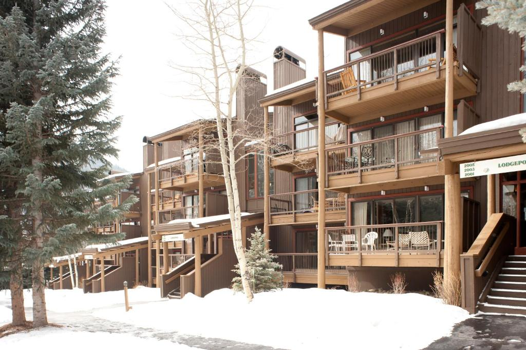 Evergreen Condominiums by Keystone Resort during the winter