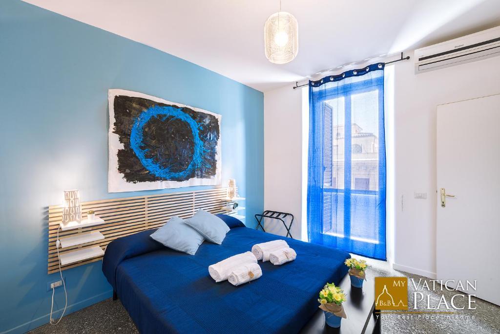Llit o llits en una habitació de My Vatican Place B&B