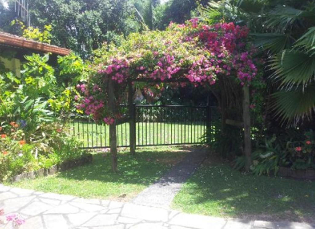 A garden outside Waters Edge B&B