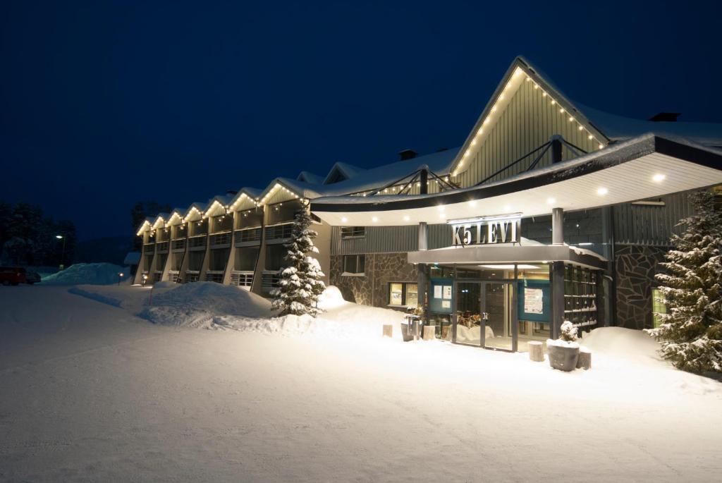 Hotel K5 Levi durante el invierno