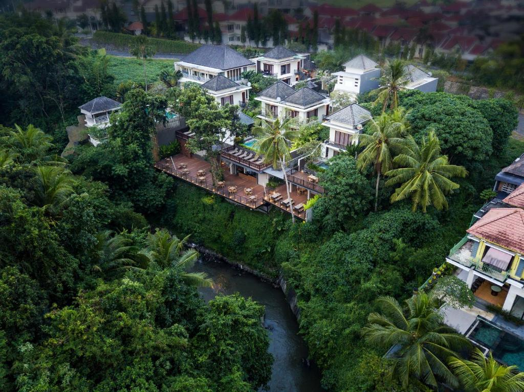 A bird's-eye view of Annupuri Villas Bali