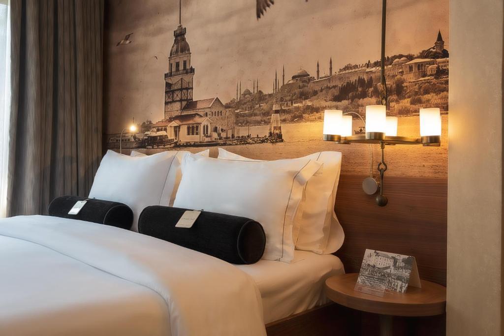 Кровать или кровати в номере Boutique Saint Sophia