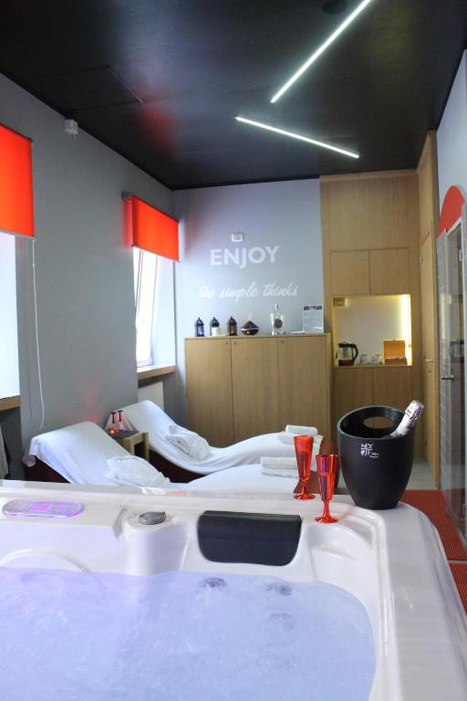 Ein Badezimmer in der Unterkunft Hotel Gran Sasso & SPA