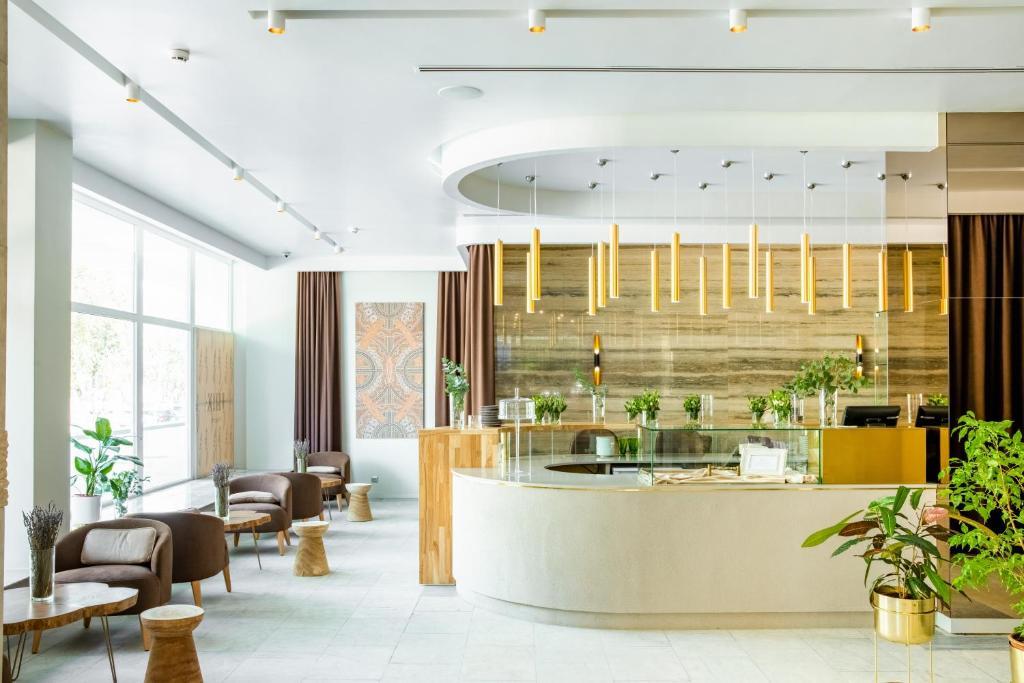 The lobby or reception area at Syktyvkar Hotel