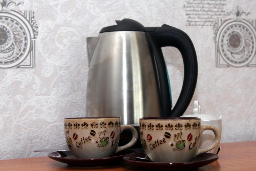Coffee and tea-making facilities at Guest House Bashkiriya