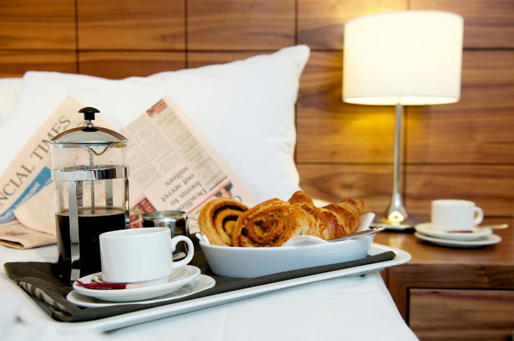 Breakfast options available to guests at The Knight Residence by Mansley