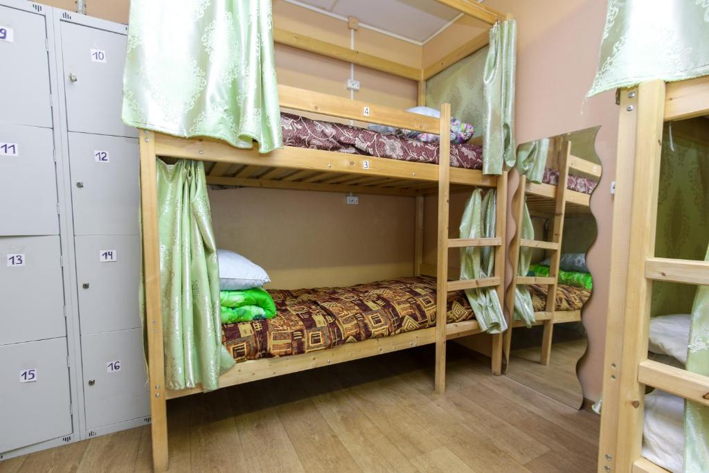 A bunk bed or bunk beds in a room at Hostel Wood Owl