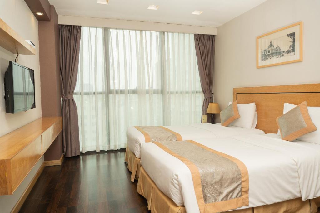 Phòng nhìn ra Thành phố có 2 Giường đơn