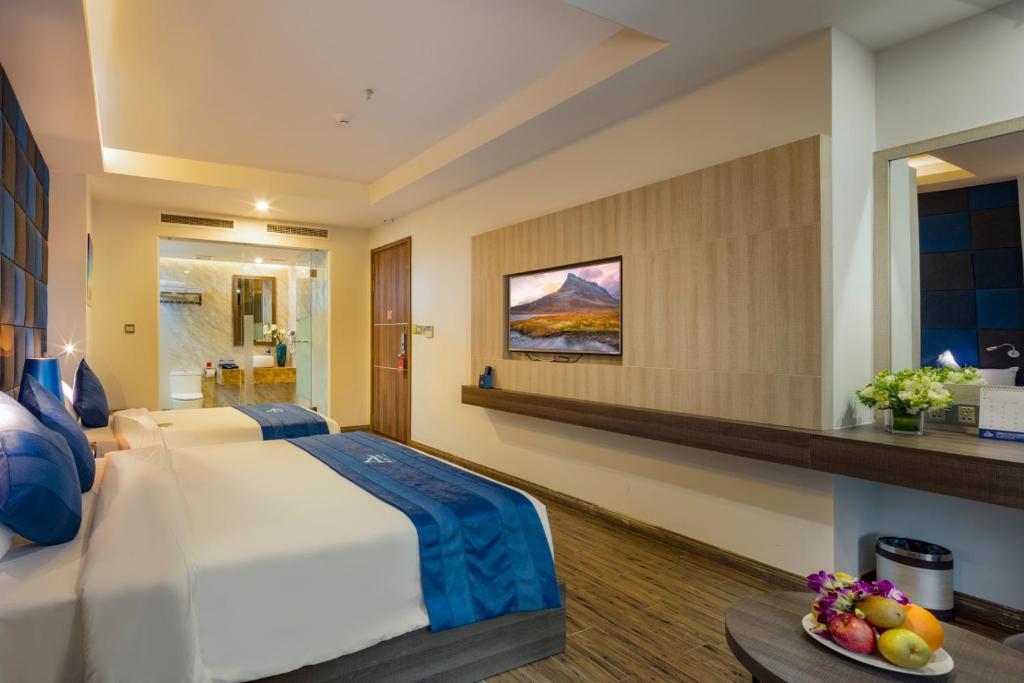 Phòng Deluxe Giường Đôi/2 Giường Đơn Hướng Phố