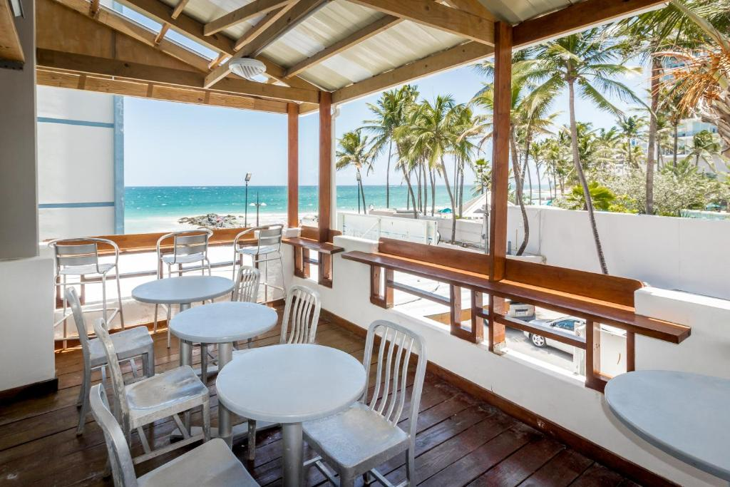 A restaurant or other place to eat at Sandy Beach Hotel